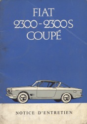 Fiat 2300S Coupe Owners Manual