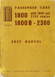 Fiat 2300S Coupe Workshop Manual