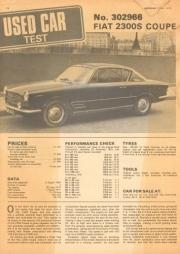 Autocar - Fiat 2300 S Coupe