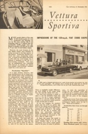 The Autocar, December 22, 1961, Fiat 2300S Roadtest