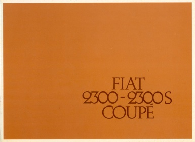 Fiat 2300S Coupe Sales Brochure # 1998