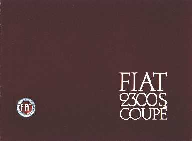 Fiat 2300S Coupe Sales Brochure
